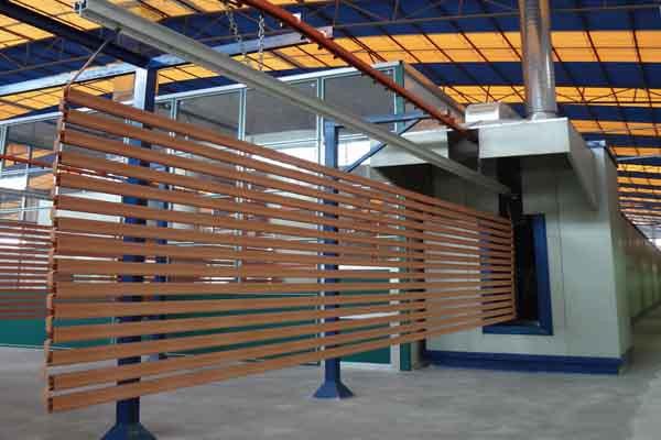 aluminium extrusion powder coating line complete aluminium