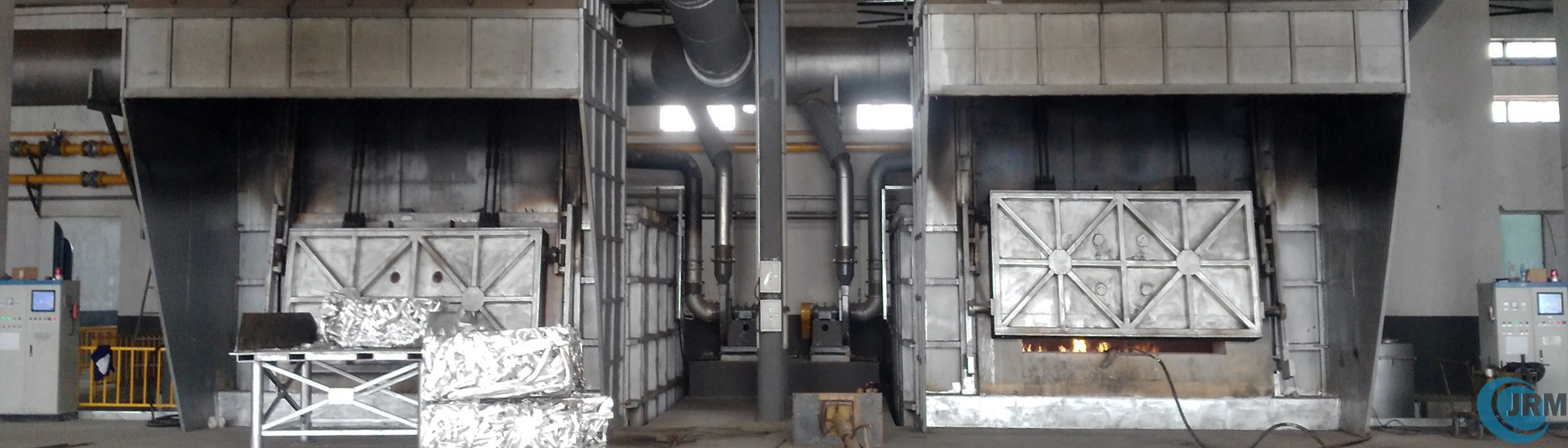 aluminium-melting-furnace-and-aluminium-billet-casting-machine