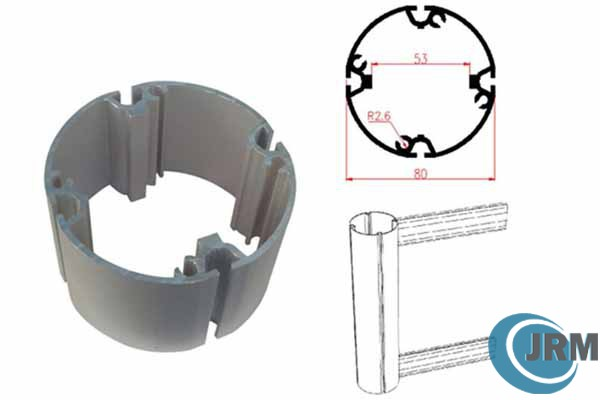 Round aluminum profile for exhibition booth stand 07