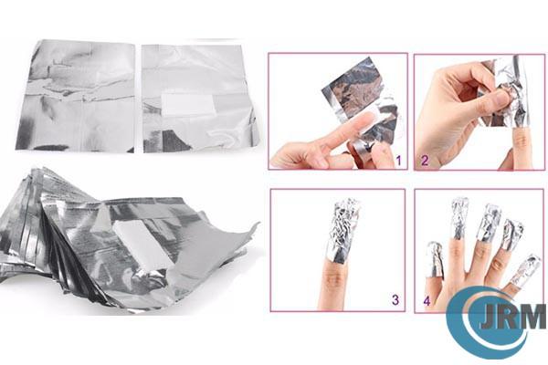 Aluminium Foil Nail Wraps Nail Polish Remover Aluminium Foil Nail Wrapper